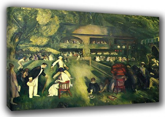 Bellows, George Wesley: Tennis at Newport. Fine Art Sports Canvas. Sizes: A3/A2/A1 (00168)
